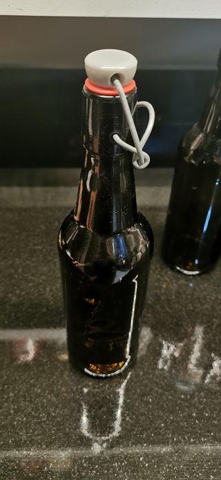 botella con cierre hermético