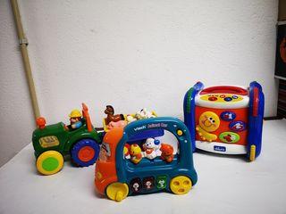 Lote de 3 juguetes musicales
