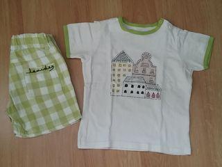 Conjunto camiseta y short 6 años perfecto