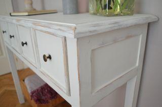 Consola madera blanca