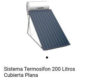 Panel solar térmico y termo acumulador 200lts