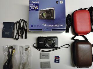 Cámara de fotos Canon PowerShot SX230 HS con GPS