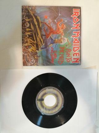 Iron Maiden Run to the Hills single vinilo