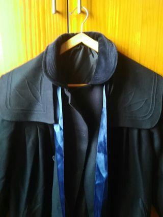 Abrigo lana/paño talla 9 niña