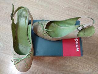 zapato de piel y tacon