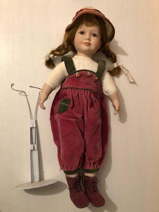 Muñeca porcelana decada 60