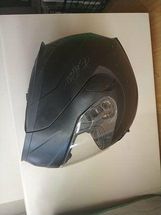 Casco moto Exklusiv modelo Highway negro mate