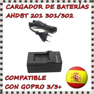 Cargador de Baterías para GoPro Hero 3/3+ y cable