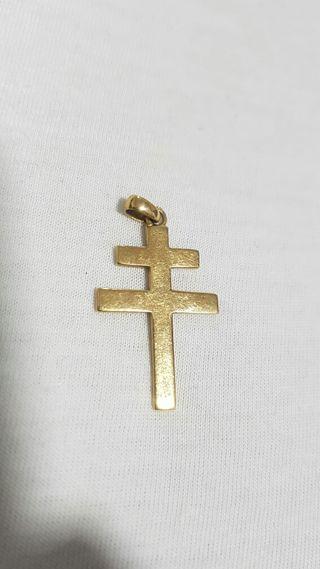 colgante cruz caravaca de oro 18k