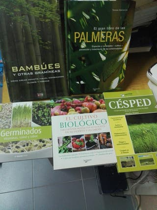 Lote 4 libros jardinería cultivo germinados