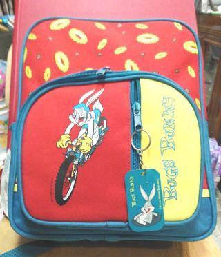 mochila infantil bugs bunny 30cm alto