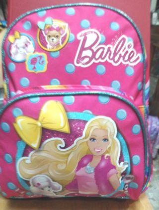 mochila infantil barbie 33cm alto
