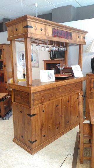 Mueble barra rustica madera
