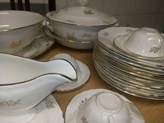 juego vajilla sopera bandeja platos tazas