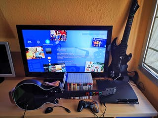 PS3+15 juegos+guitarras