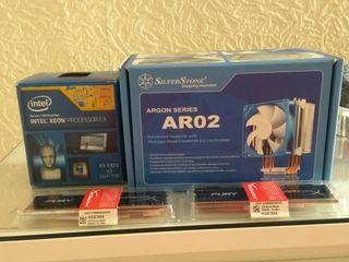 Xeon E3-1220V3cargon ar02,noctus fan,16gb ddr3