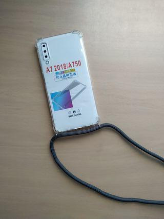 Funda móvil Samsung Galaxy A7 (2018) con cuerda