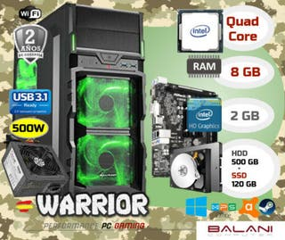 Ordenador nuevo PC Gaming Intel Quad Core 8GB+SSD