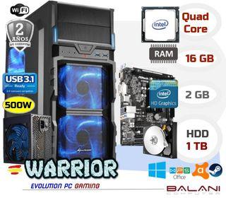 Ordenador PC Gaming Intel Quad Core 16GB 1000GB