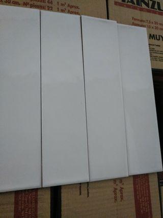 azulejo gres rustic blanco brillo 7'5*30