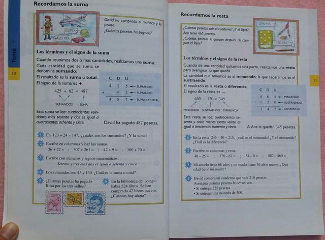 3º Primaria, Matemáticas, Anaya, 1995
