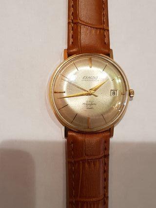 antiguo reloj automático oro 18k exactus