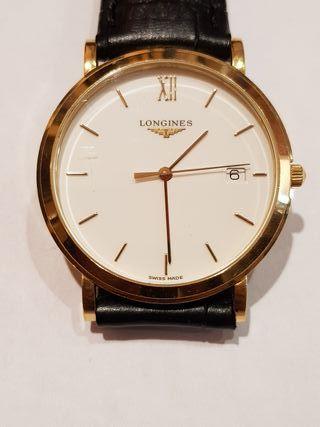 reloj oro 18k longines classic