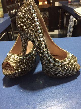 Zapatos Fiesta Dorado