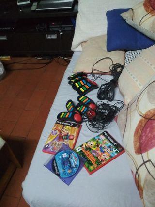 pac Buzz junto a buzzers y otros juegos ps2