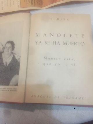 """Libro """"Manolete ya se ha muerto"""""""
