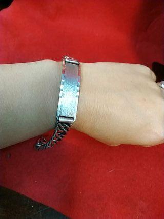 pulsera de plata esclava maciza hombre