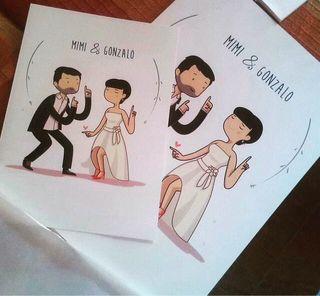 Ilustración para boda/ familias