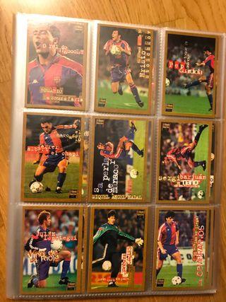 198 tarjetas cromos Barça