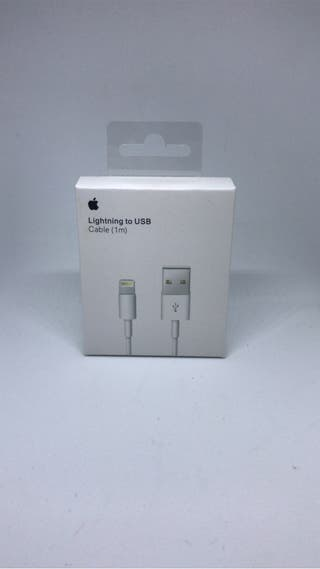 Cable 1m cargador USB iPhone iPad