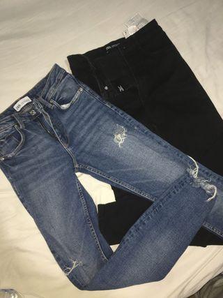 2 Jeans Zara- XS