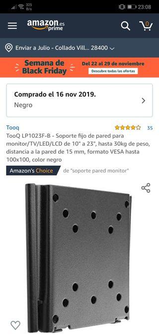 Soporte fijo de pared para monitor/TV/LED/LCD
