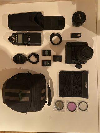 Nikon D5100 + Kit completo de fotografía