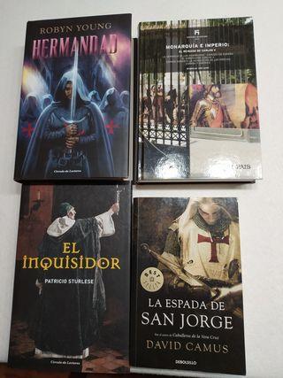 Lote de 4 libros de novela histórica