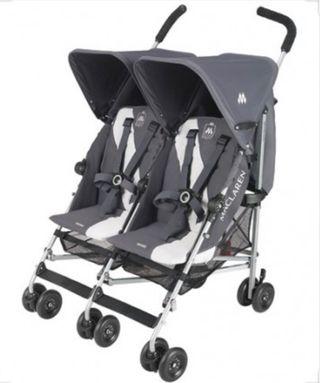 Carro bebé carrito gemelos gemelar mclaren twin