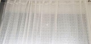 cortina para ventana con barra acero 1,80 cm