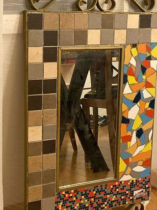 Espejo estilo mosaico