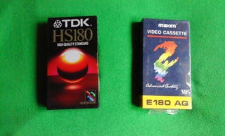 2 cintas virgenes VHS VIDEO