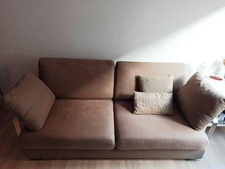 Sofá diseño en lino dos plazas grandes