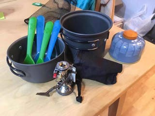 Camping cooking set (good condition & working)