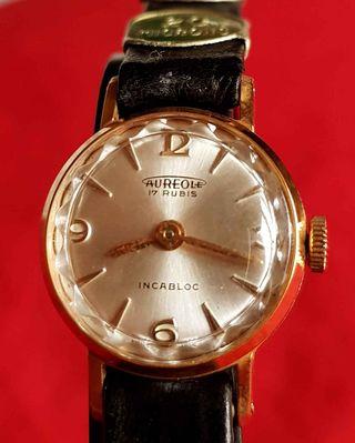 831-Reloj AUREOLE de cuerda, Vintage, NOS (new old