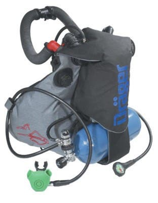 Equipo Buceo SCR Rebreather Drager Ray