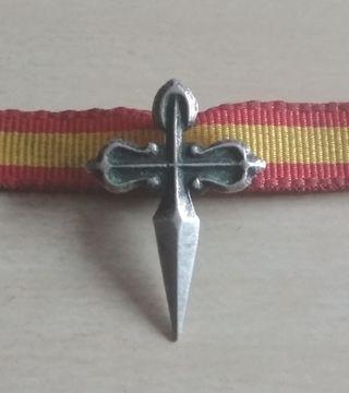 Antigua insignia o medalla cruz de Santiago