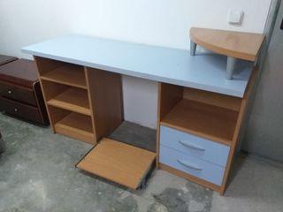 escritorio 150cm azul claro