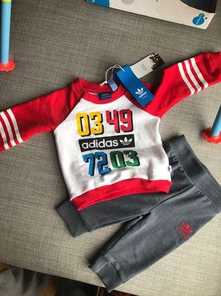 Regalo Nuevo Etiquetas Adidas Chandal conjunto beb