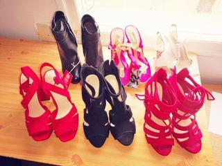 Lote de Zapatos de Tacón talla 38
